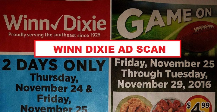 Winn Dixie Ad Scan November 25th – 29th!!