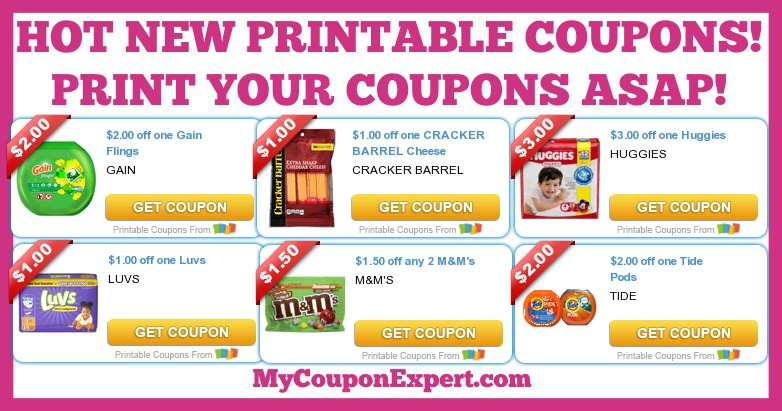 picture regarding Cracker Barrel Coupons Printable identify Warm PRINTABLE Discount coupons: Huggies, Tide, MMs, Kraft, Revenue