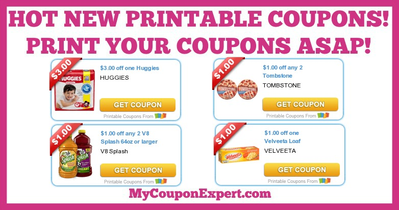 photo about Velveeta Printable Coupon named Very hot Contemporary PRINTABLE Discount coupons: Huggies, Velveeta, V8, Tombstone