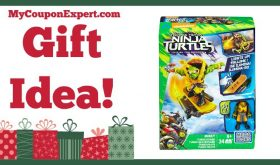 Hot Holiday Gift Idea! Mega Bloks TMNT: Out of The Shadows Mikey Turbo Board Playset Only $8.23!!