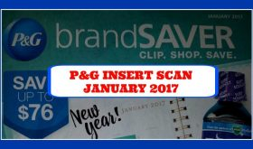 LOOK!!  It's the JANUARY 2017 P&G Insert!!  Scan all pages!