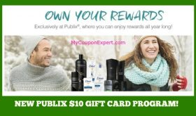 NEW Publix $10 Gift Card program for 2017!