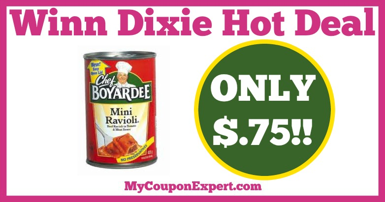 Chef Boyardee Pasta Hot Winn Dixie Deal