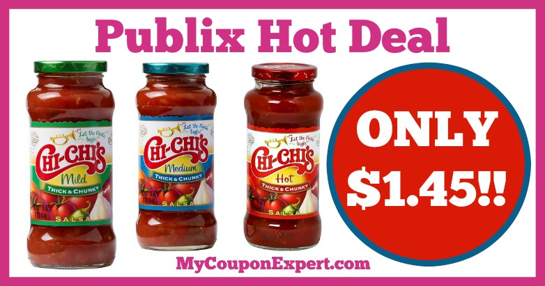 Hot Deal Alert! Chi-Chi's Salsa Only $1.45 at Publix from 1/7 – 1/27