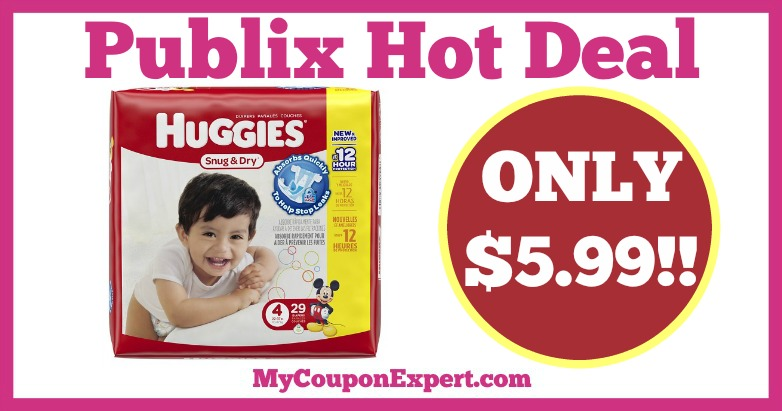 Huggies Diapers Jumbo Pack Hot Publix Deal