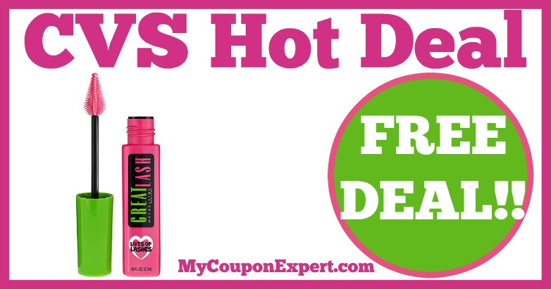 59552e85bce Hot Deal Alert!! FREE Maybelline Great Lash Mascara at CVS from 1/29 ...
