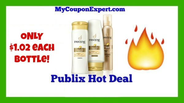 WOW!!  Pantene just $1.02 each bottle at Publix!!  Look!!