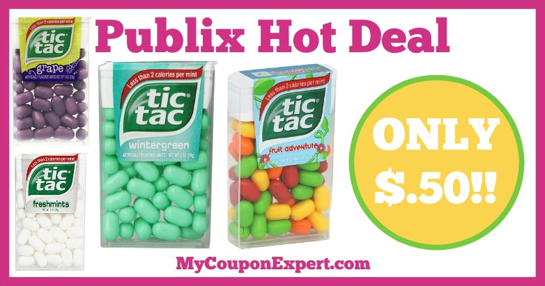 Hot Deal Alert! Tic Tacs Only $.50 at Publix from 1/7 – 1/27