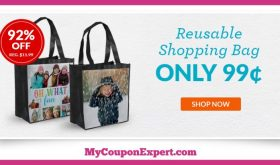 Check Out This HOT DEAL!! Reusable Custom Shopping Bag Only $1.00 – 92% Savings!!
