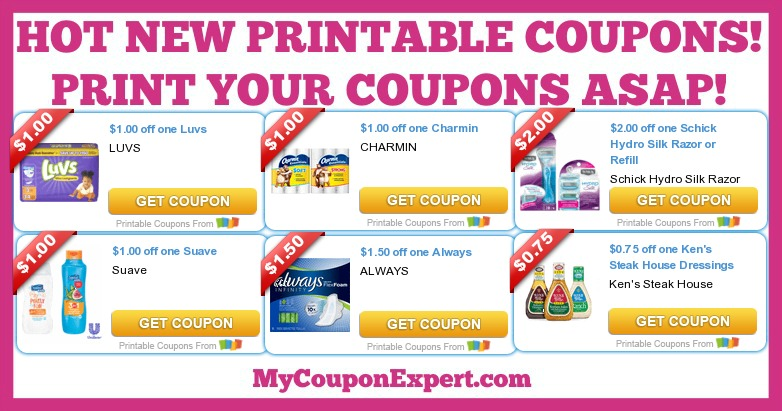 picture about Charmin Coupon Printable referred to as Very hot Contemporary Printable Discount codes: Luvs, Clever, Charmin, Schick