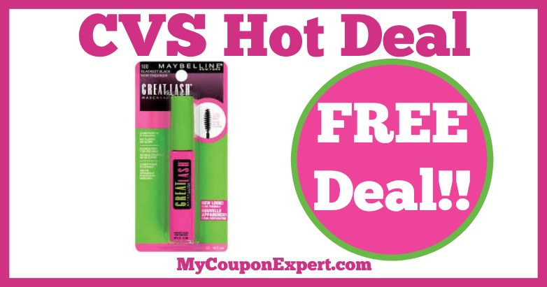 c0685c340bc Hot Deal Alert!! Maybelline Great Lash Mascara at CVS from 2/19 - 2/25 ·