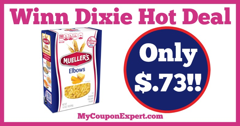 Mueller's Pasta Hot Winn Dixie Deal