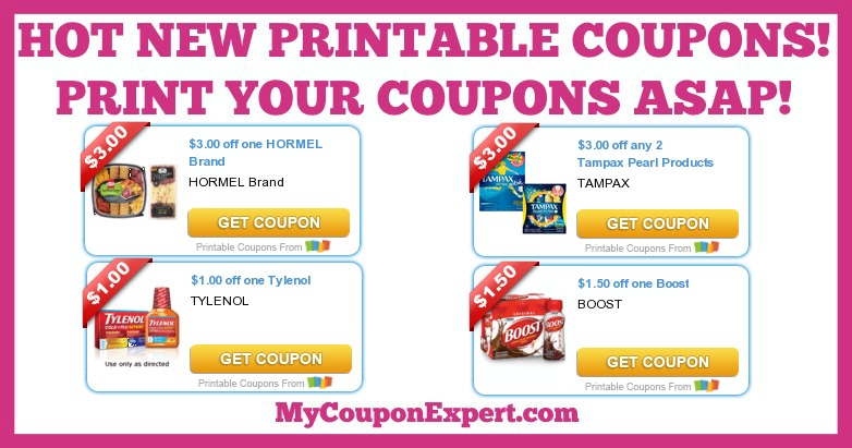 picture regarding Boost Printable Coupons known as Warm PRINTABLE Coupon codes: Enhance, Hormel, Kraft, Tylenol, Tampax
