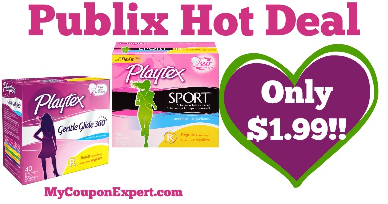 hot deal alert  playtex products only  1 99 at publix from