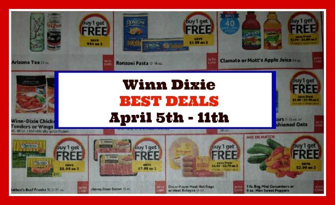 Winn Dixie HOTTEST DEALS April 5th – 11th!!