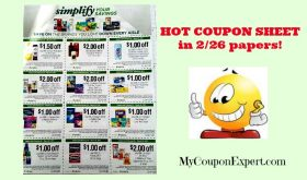 Publix COUPON SHEET in the February 26th paper!!  Look!