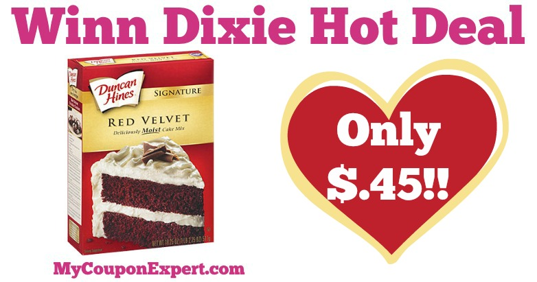 Duncan Hines Cake Mix Only 45 at Winn Dixie MyCouponExpert