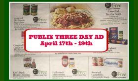 Publix THREE DAY AD April 17th – 19th!  After Easter Ad!