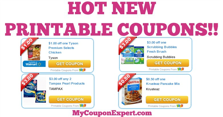 graphic regarding Kotex Printable Coupons identify OH MY GOSH!! Scorching Contemporary Printable Discount coupons: Tyson, Scrubbing