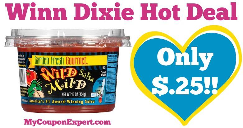 ohh yeah garden fresh gourmet salsa only 25 at winn dixie from 53 59 - Garden Fresh Gourmet