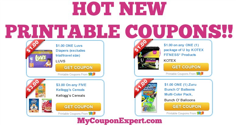 image relating to Kotex Printable Coupons named Ultimate Possibility for This sort of Incredibly hot Printable Discount codes: Luvs, Kotex