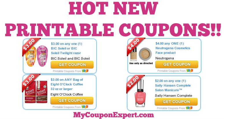 photograph about Printable Coffee Coupons identified as Sizzling Clean Printable Coupon codes: BIC, Neutrogena Cosmetics, 8