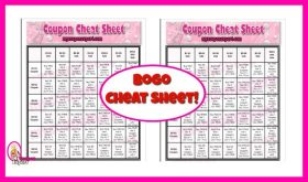 Printable Coupon Cheat Sheet!