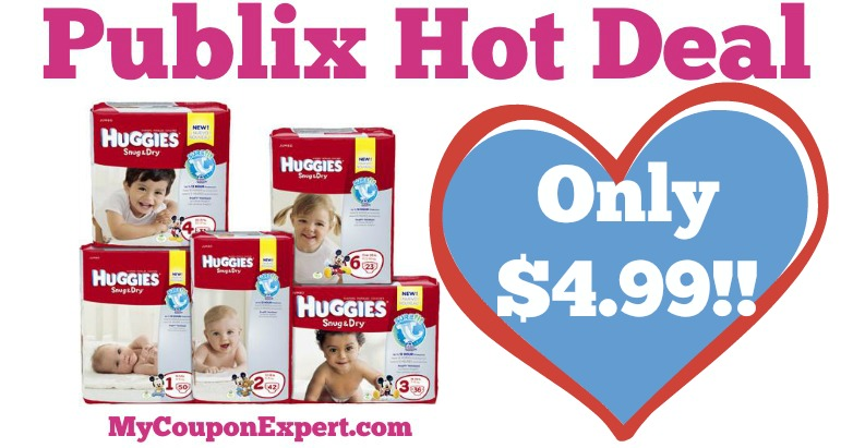 WHOOP!! Huggies Diapers Only $4.99 At Publix From 6/8