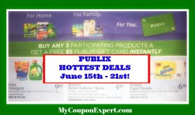 Publix HOT DEALS June 15th – 21st!!  HOT $5 Gift Card Promo!