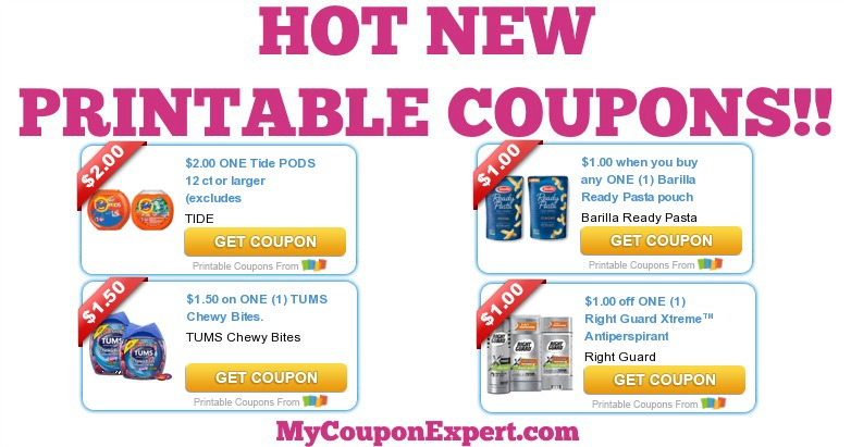 image relating to Right Guard Printable Coupon identified as Sizzling Clean Printable Discount codes: Barilla, Tide, Tums, Straight Shield