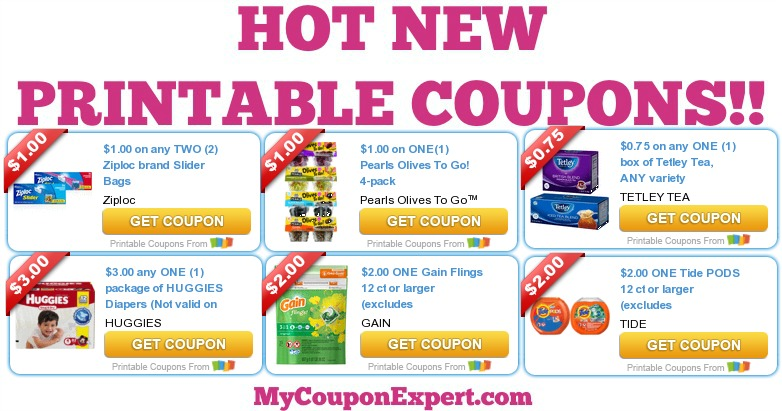 graphic about Ziploc Printable Coupons referred to as Warm Fresh Printable Coupon codes: Tide, Huggies Diapers, Pearls