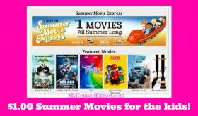 YES!  ONE DOLLAR Summer Movies for kids at Regal Cinemas!