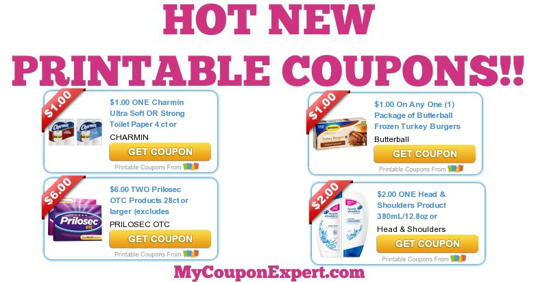 photograph about Prilosec Printable Coupon named Very hot Fresh new PRINTABLE Discount codes: Charmin, Butterball, Prilosec