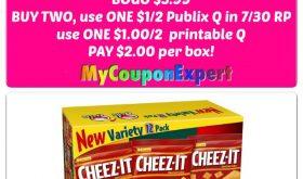 Publix Hot Deal Alert! Keebler / Cheez-Its Variety $2.00 each starting 8/3!