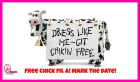 FREE Chick-Fil-A Entree July 10th!!  Dress like a cow!!
