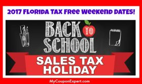 FLORIDA Tax Free Weekend Dates for 2017 released!  LOOK!
