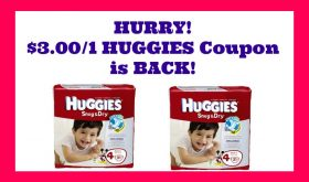 HURRY!!  $3.00/1 Huggies Coupon is BACK!!  Publix Deal too!