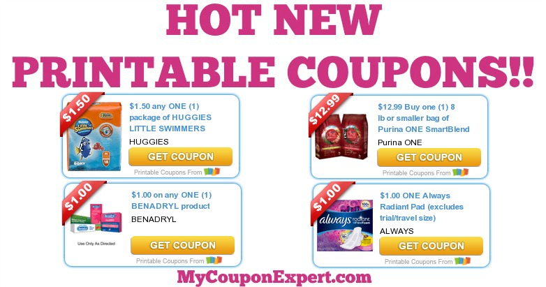 graphic about Benadryl Printable Coupon titled WOOT!! Fresh new Thirty day period \u003d Sizzling Fresh PRINTABLE Discount coupons!! Print Your