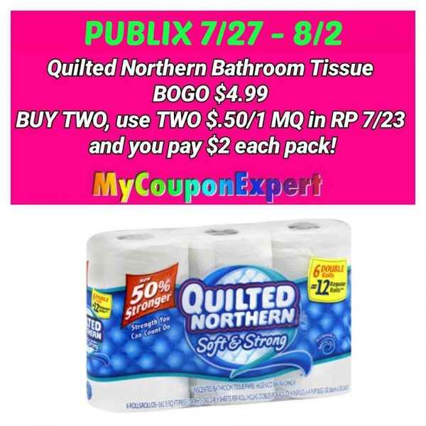 Whoop Quilted Northern Only At Publix From 7 27 8 2