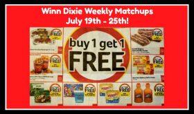 Winn Dixie Matchups July 19th – 25th!
