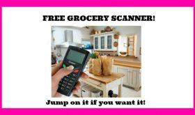 FREE GROCERY SCANNER!!  HURRY NOW if you want it!!