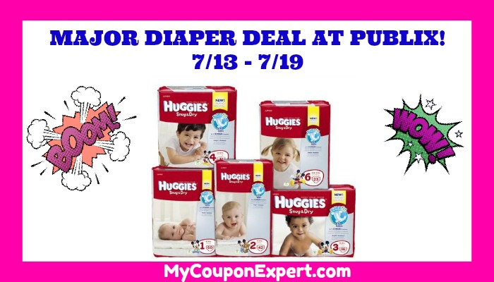 HOT DIAPER DEAL AT PUBLIX starting July 13th!  Print now!