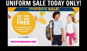 UNIFORMS BOGO plus $3.00 Polo Shirts!  TODAY ONLY!  HURRY!
