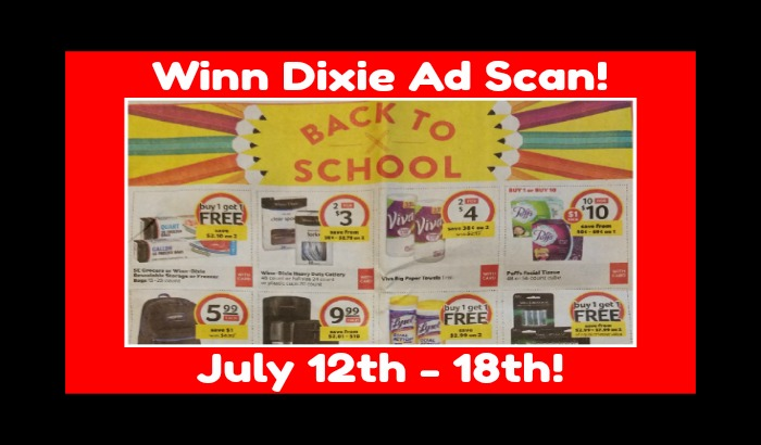 Winn Dixie Ad Scan for July 12th – 18th!!  Plus Matchups!