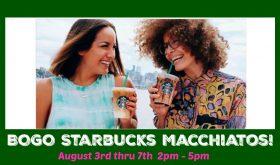 BOGO Starbucks Macchiatos!  SPREAD THE WORD!!