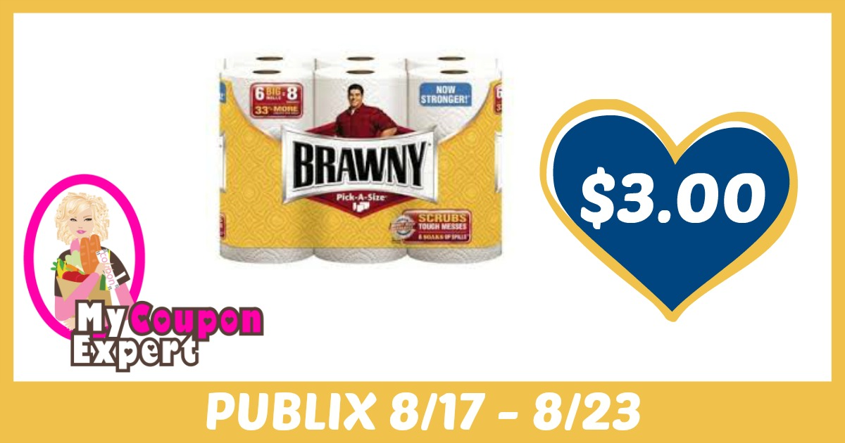photograph relating to Brawny Printable Coupons known as Brawny Paper Towels (6 Roll or XXL 3 Rolls) Basically $3.99 Each individual