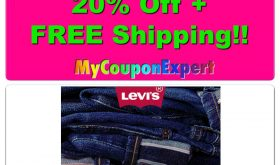 OH EM GEE!! 20% Off from Levi's + FREE Shipping!! HURRY!!