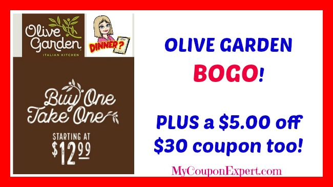 Olive Garden Bogo Deal Plus A Off Coupon My Coupon Expert