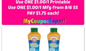 Arm & Hammer Scent Boosters just $1.75 each at Publix!!
