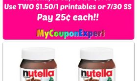 Nutella Hazelnut Spread just 25¢ each at Publix!